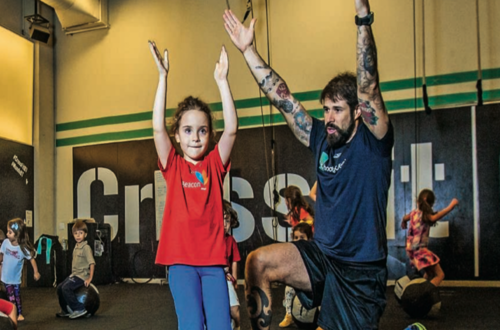 Youth squad:Inspired on military training, Crossfit gets a version for children that disguises exercises into playful activities.