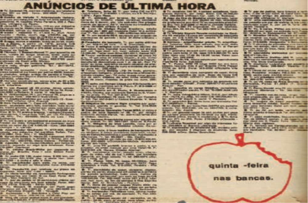Memory: A story about  Primeira Mão,  a classified ad newspaper created in 1980 that still sells 80,000 copies per month.