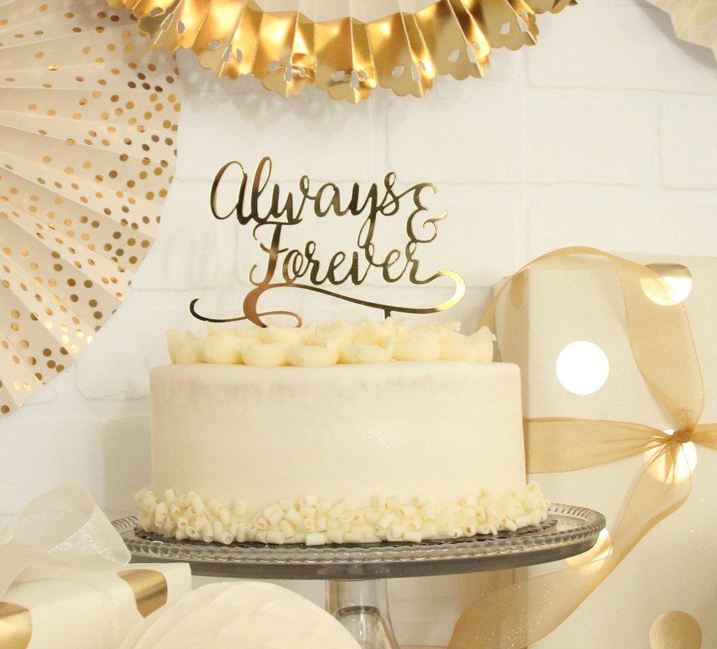 Gold Mirrored Acrylic Cake Topper — Sugar Drop Inc.