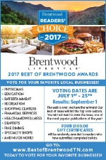 We were honored to have been nominated in two categories for the 2017 Best of Brentwood Awards!