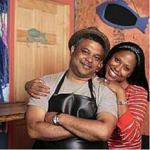 """<strong> Lolo's Seafood Shack </strong><br> Leticia """"Skai"""" Young and Raymond Mohan"""