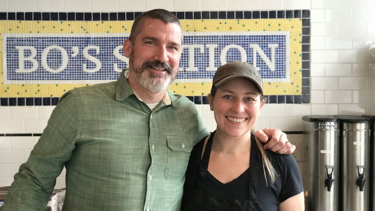 <strong>Ashley Dikos and Andrew Martinez</strong><br> BO's Bagels