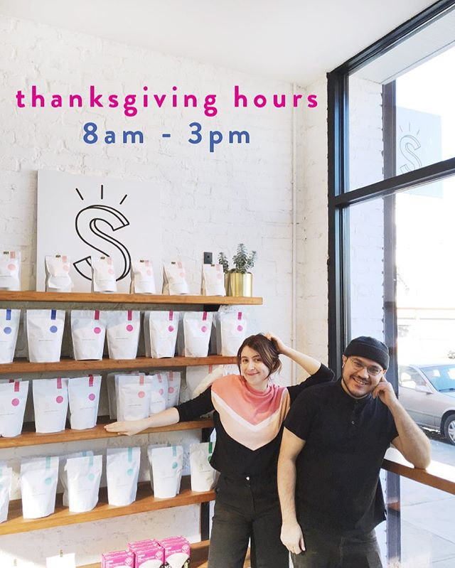 We'll be open on Thanksgiving from 8 am to 3 pm. Come say hi, and grab a bag of coffee while you're at it 🍗☕️🍗☕️ . . . . . #supercrowncoffeeroasters #supercrowncoffee #supercrown #super👑☕️ #☕️ #coffeeroaster #drinkbettercoffee #specialtycoffee #bushwick #bushwickcoffee  #brooklyn #brooklyncoffee #brooklyncafe #cafe #coffeeshop #friendsgiving #foodcoma