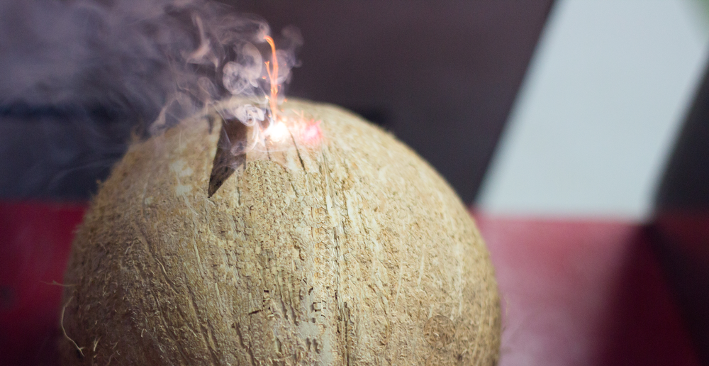 EVERY COCONUT IS CUSTOM LASER ENGRAVED WITH YOUR FESTIVAL, BRAND, OR EVENT LOGO
