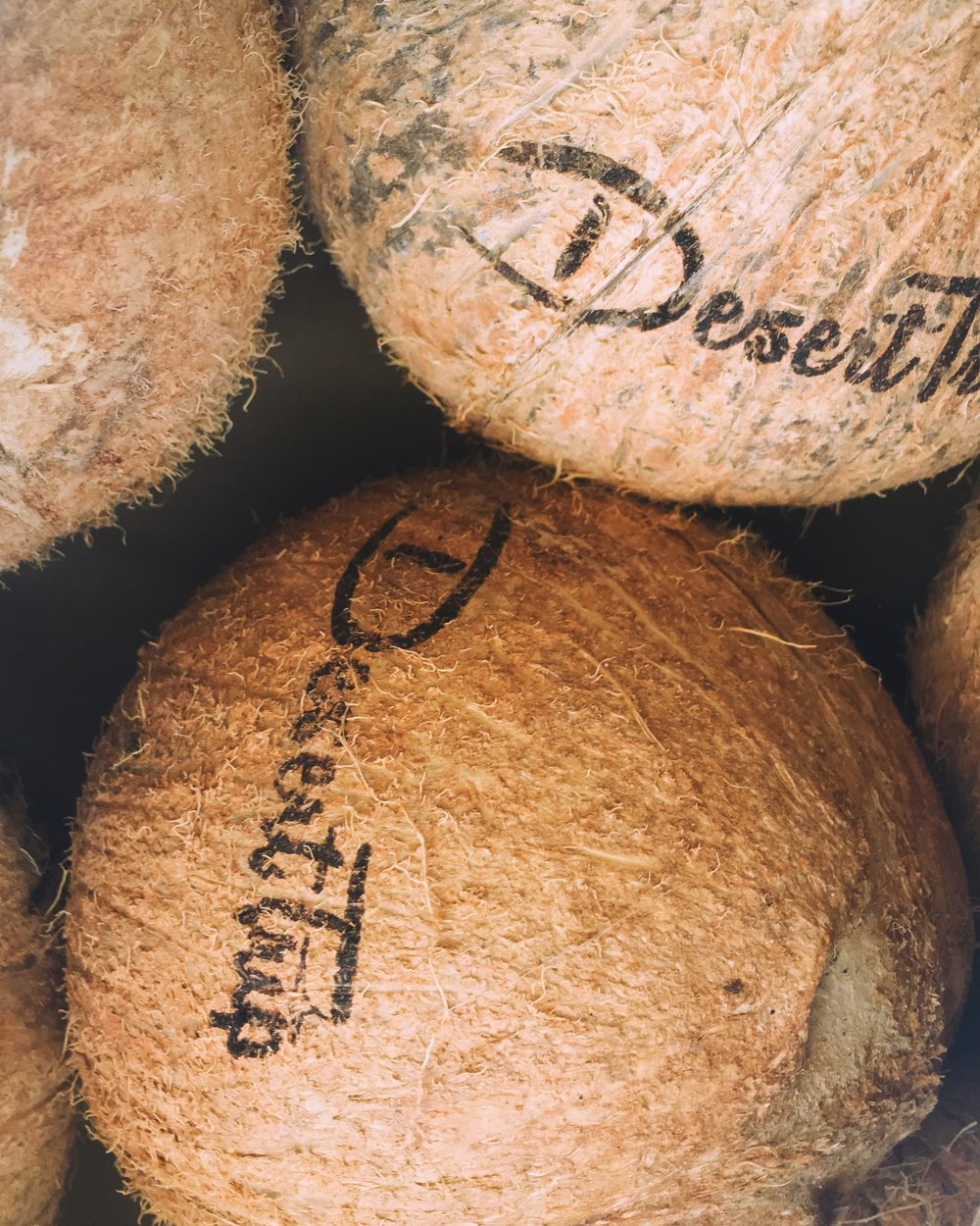 YOUR COCONUTS ARE THEN BOXED AND SHIPPED IN REFRIGERATED TRUCKS TO YOUR EVENT