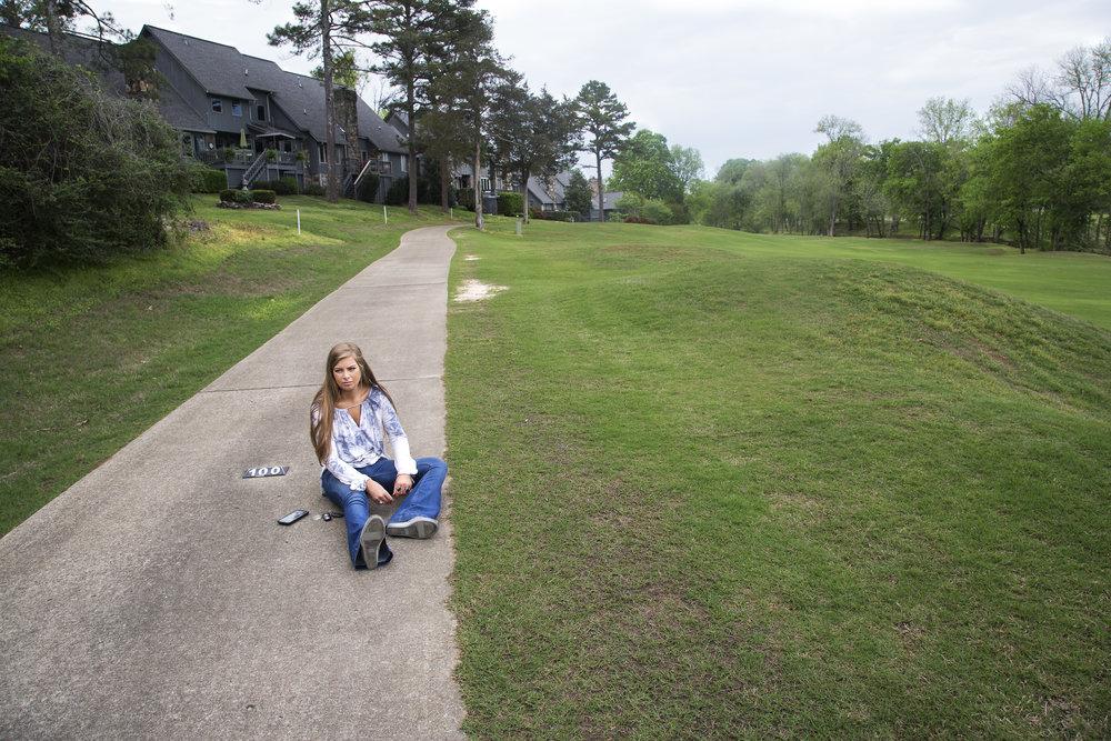 Girl on Sidewalk