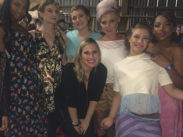 Nicole (center) with models backstage at Trafficked Fashion Show