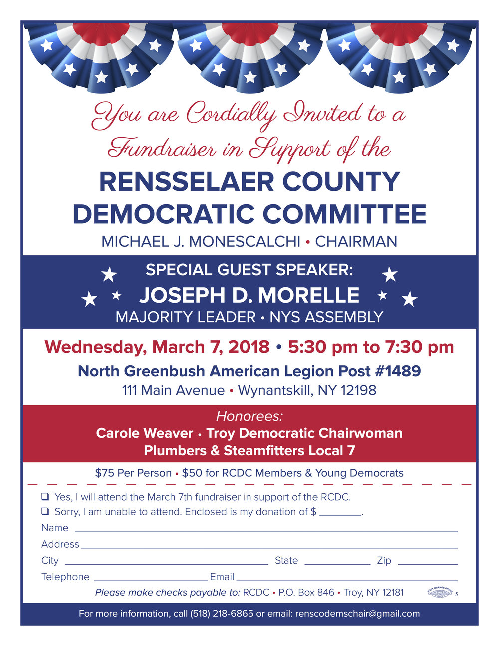 Rensselaer County Democratic Committee Fundraiser Invite - March 7 2018.jpg