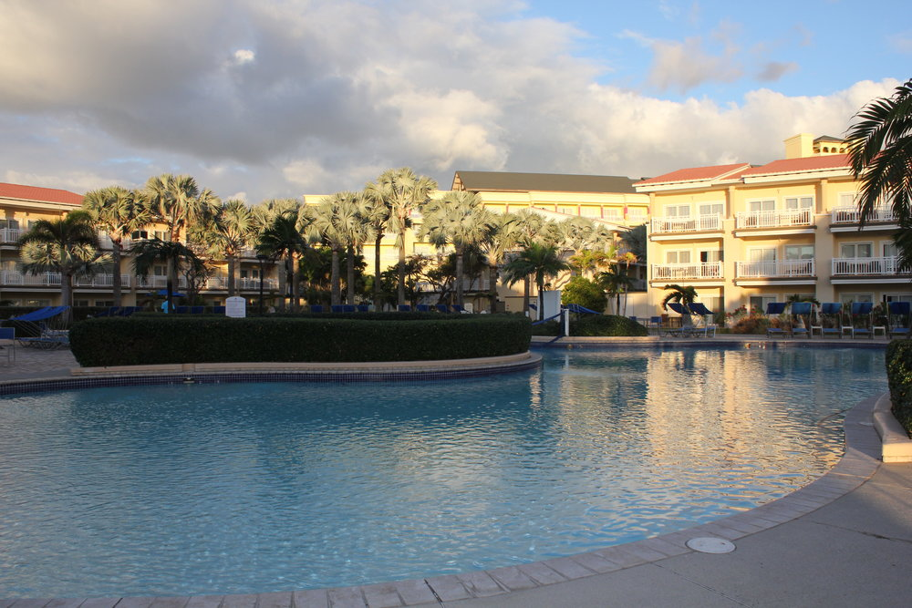 Marriott Resort St. Kitts – Poolside at dusk