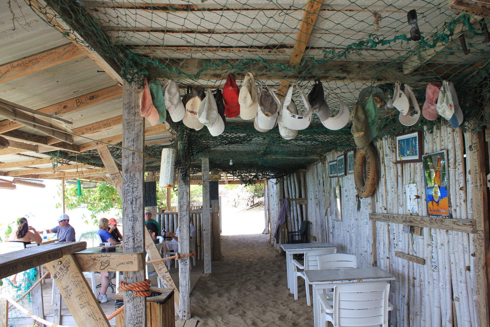 South Friar's Bay – Shipwreck Beach Bar interior