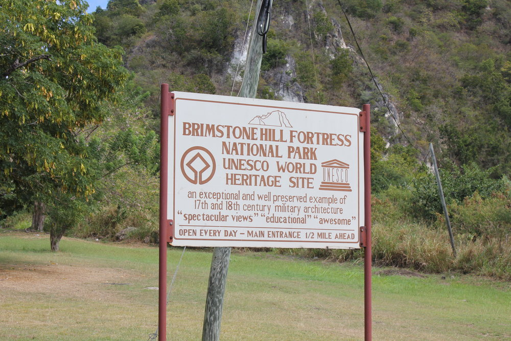 Brimstone Hill Fortress National Park – Sign on approach