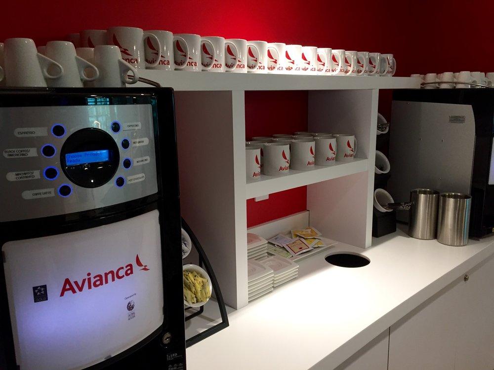 Avianca Lounge Miami – Hot drinks