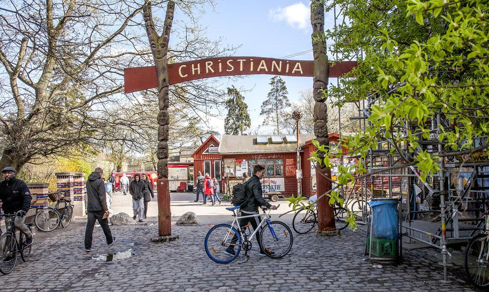 Copenhagen –Entrance to Freetown Christiania