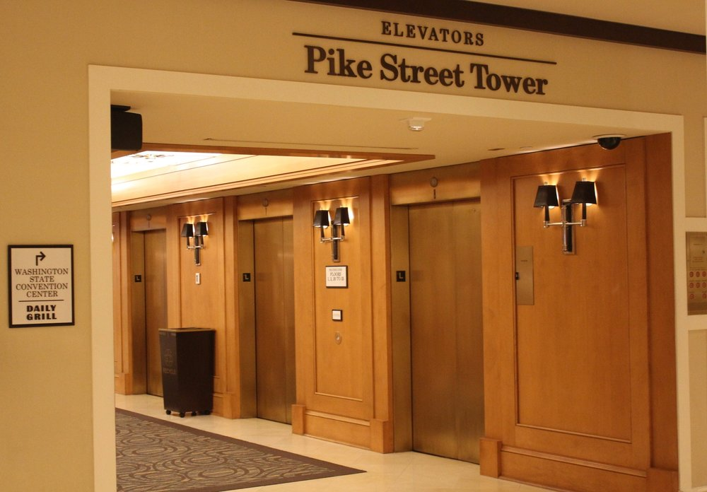 Sheraton Seattle – Pike Street Tower elevators