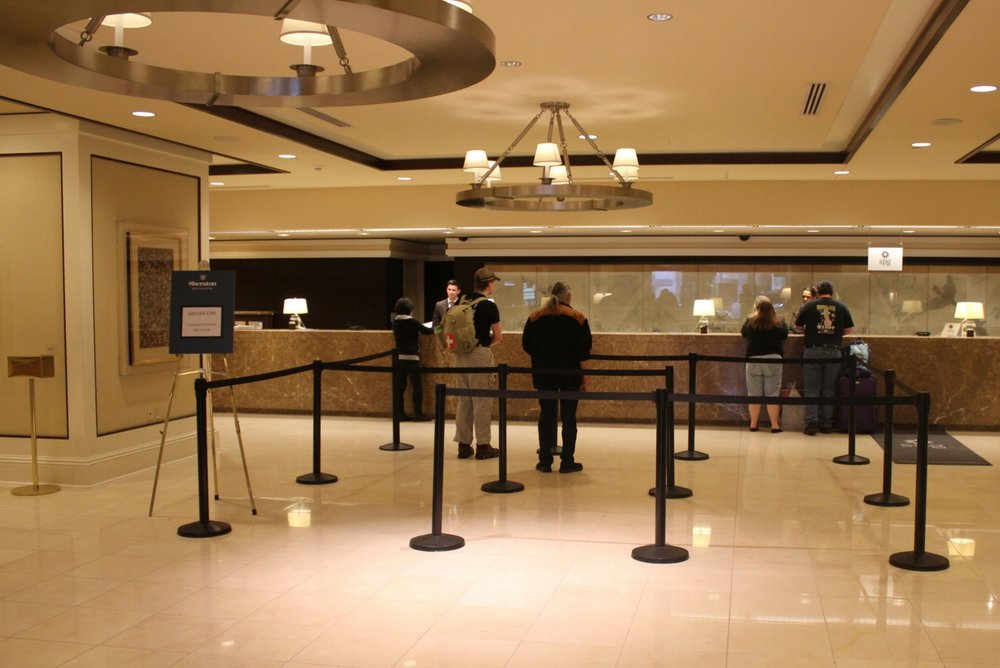 Sheraton Seattle – Check-in area