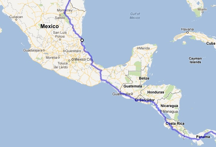 The Pan-American Highway through Mexico & Central America