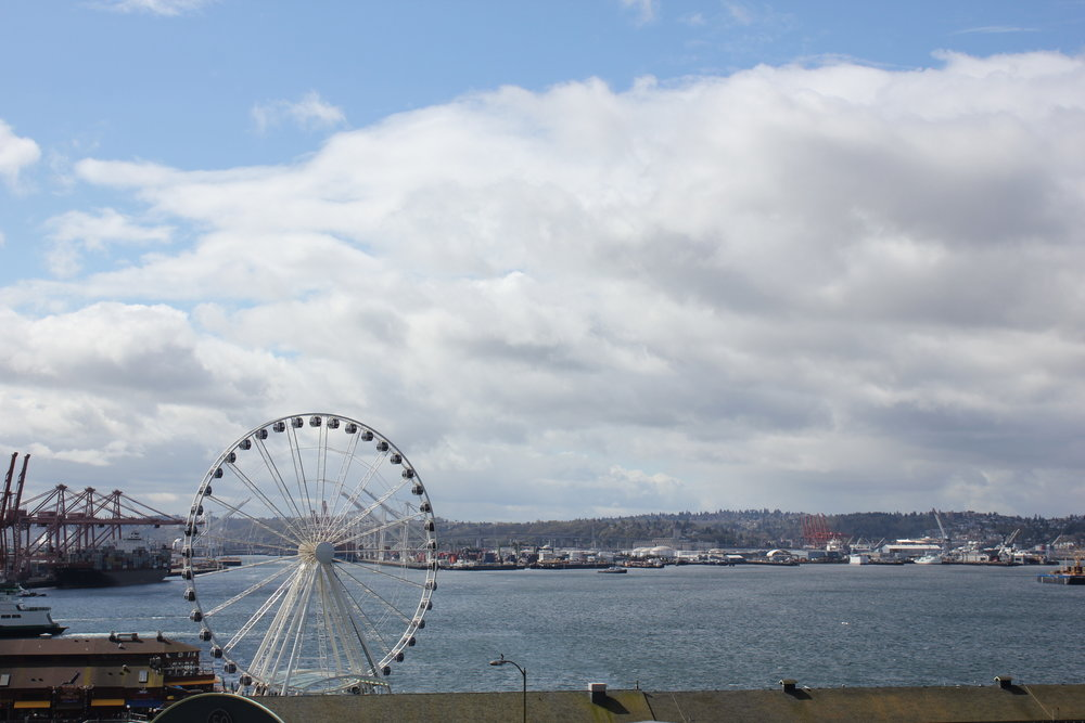 Pike Place Market – View of Elliott Bay