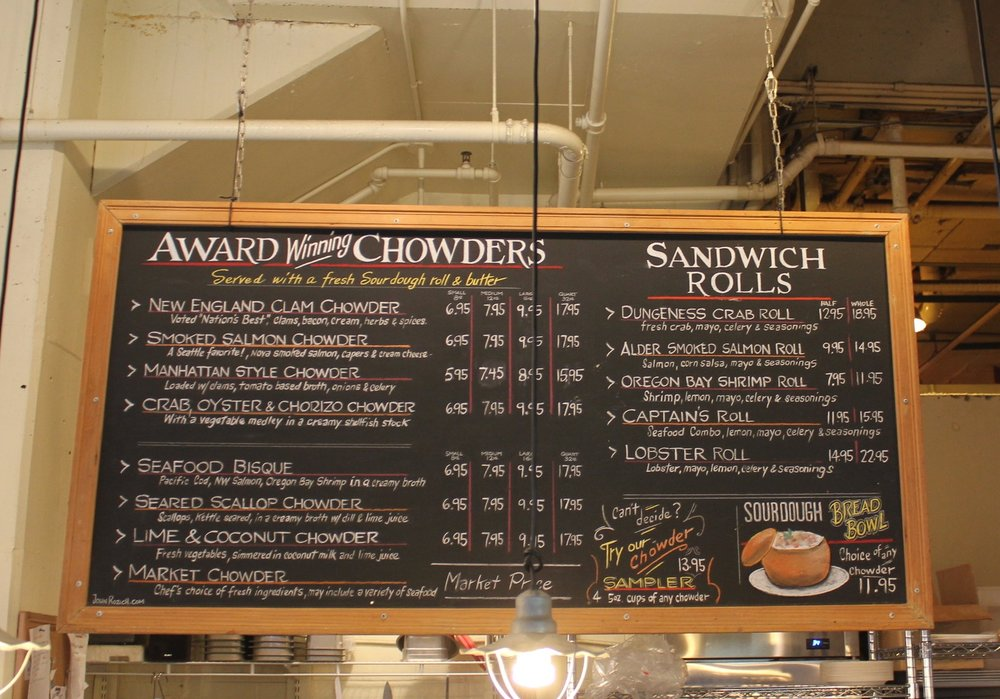 Pike Place Chowder – Menu