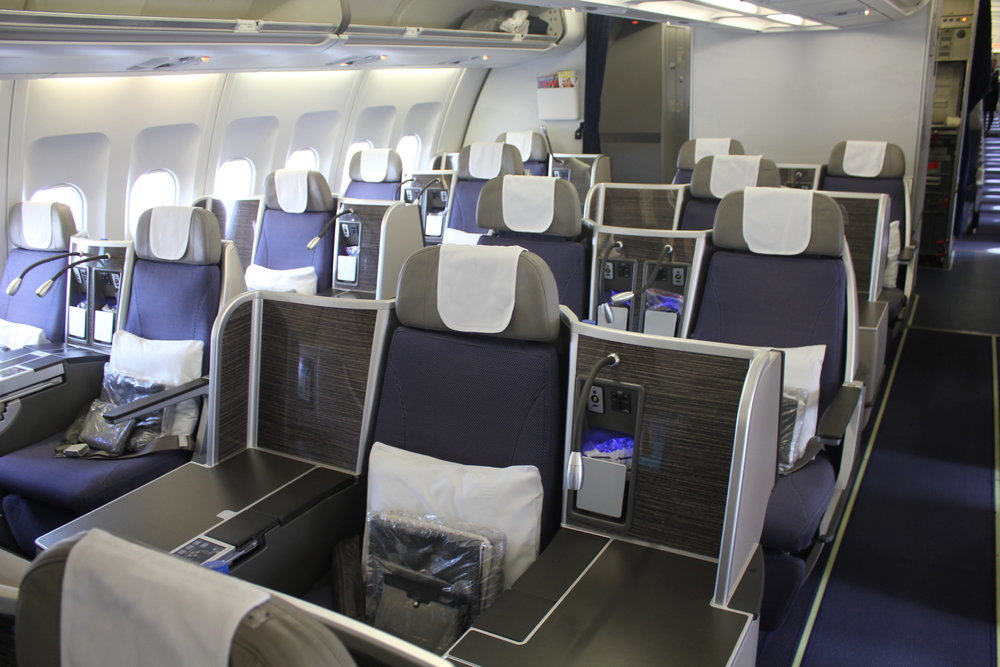 Brussels Airlines business class – Cabin
