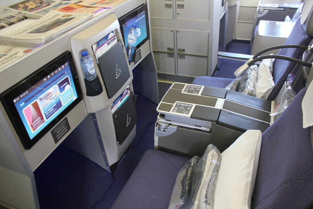 Brussels Airlines business class – Seats 1D and 1F