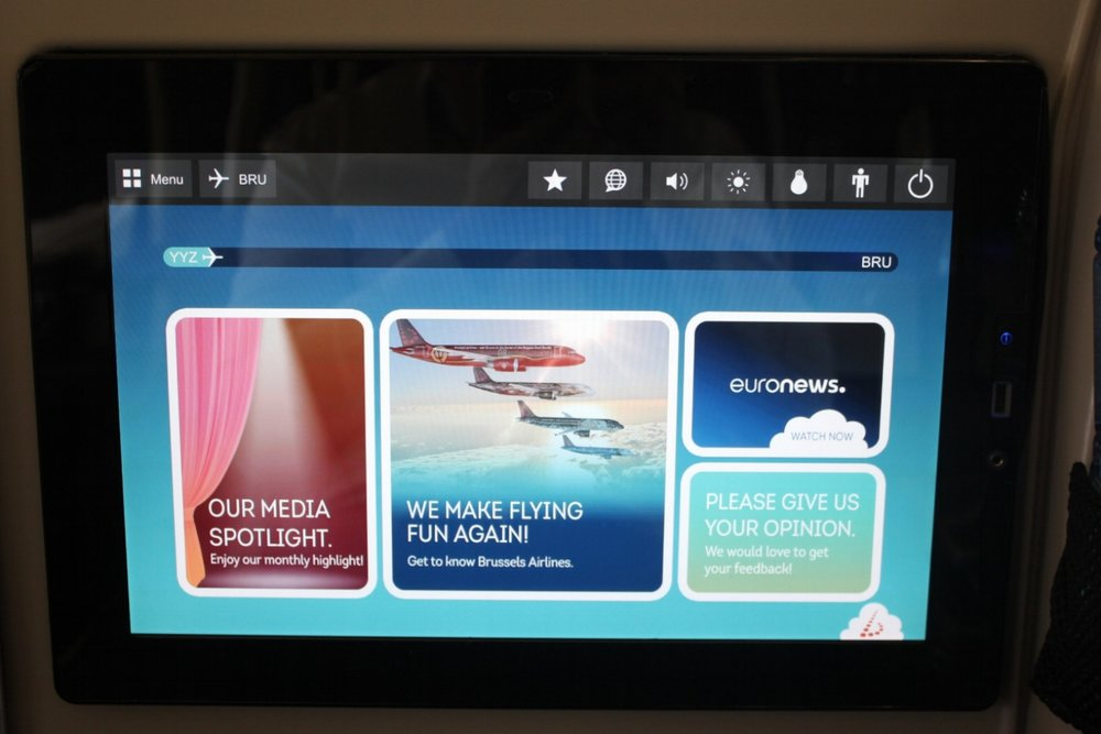 Brussels Airlines business class – In-flight entertainment system