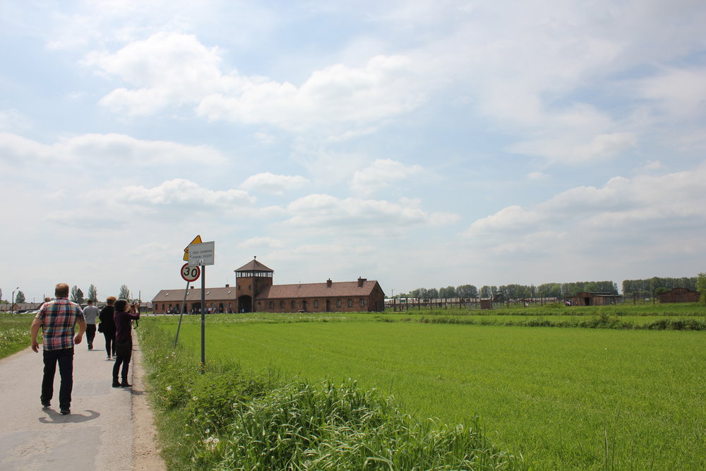 The walk to Auschwitz II–Birkenau