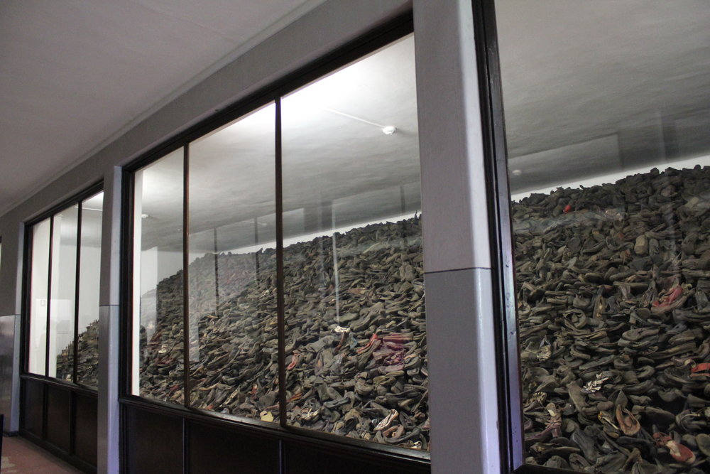 Victims' shoes – a reminder of the sheer scale of the atrocities committed