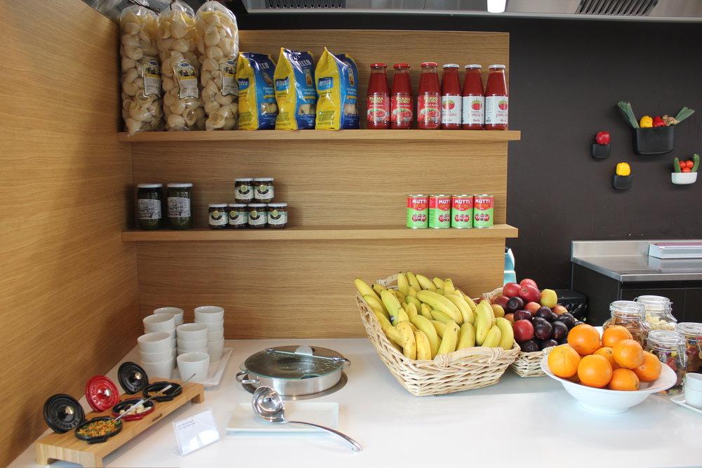 Swiss Senator Lounge Zurich – Fruits and soup