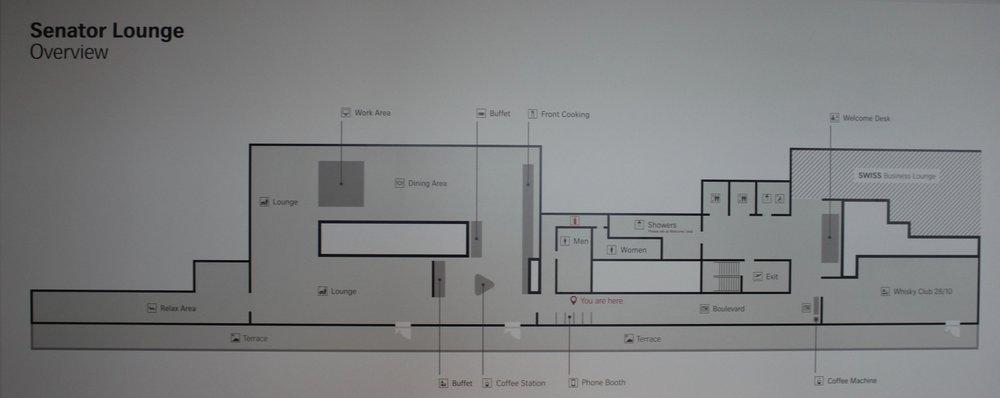 Swiss Senator Lounge Zurich – Lounge map