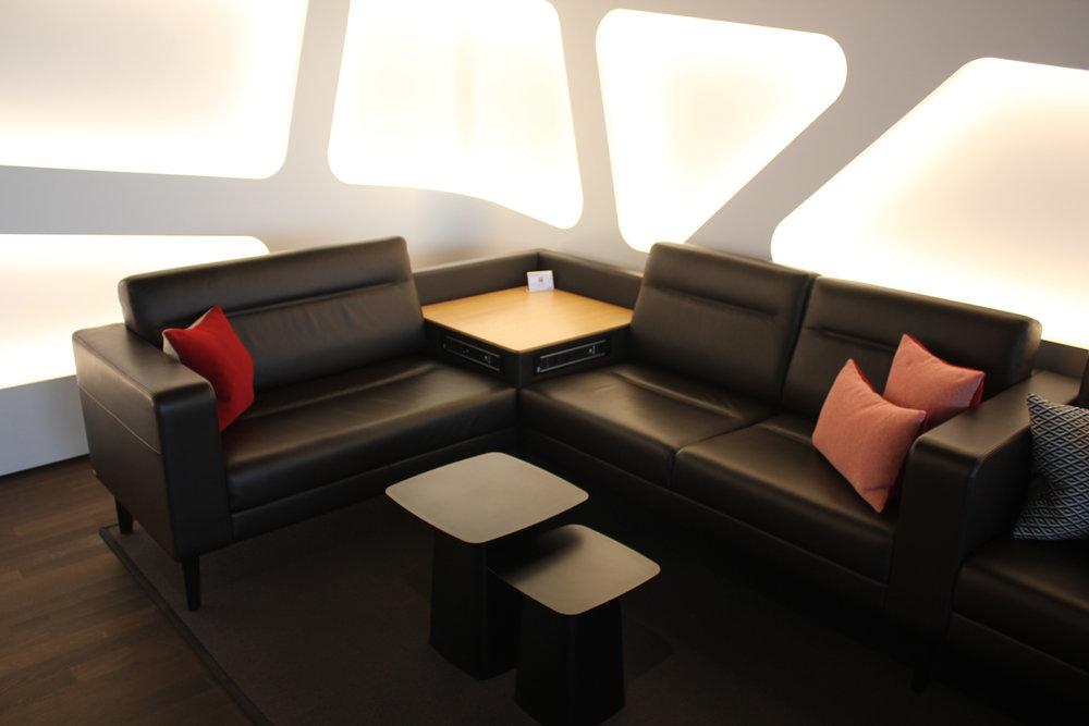 Swiss Senator Lounge Zurich – Whisky Club couch