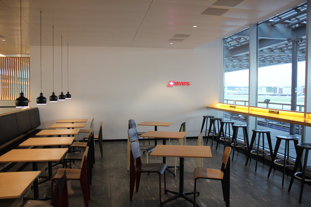 Swiss Business Lounge Zurich – Dining area