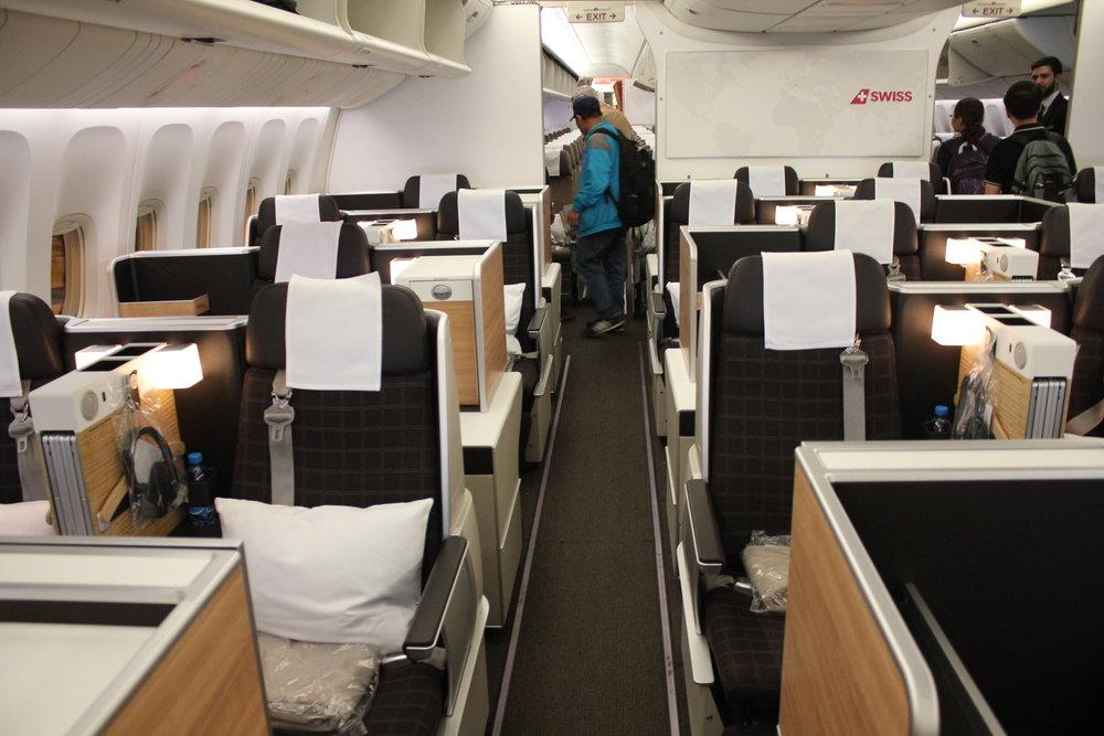 Swiss 777 business class – Cabin