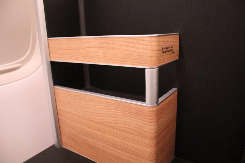Swiss 777 business class – Storage rack