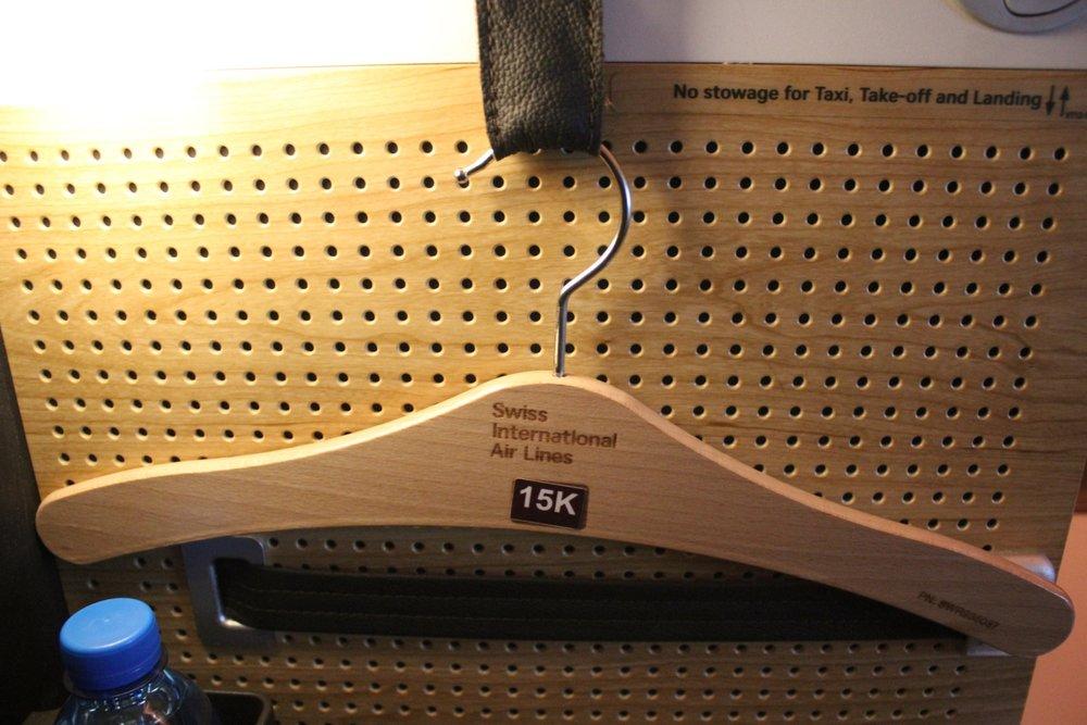 Swiss 777 business class – Coat hanger