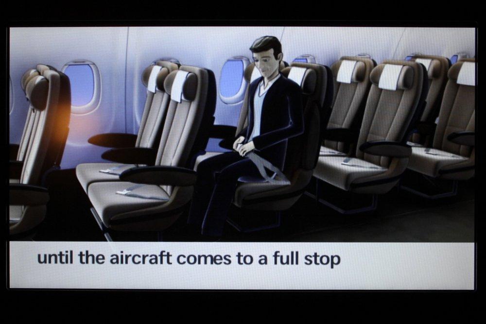 Swiss 777 business class – Safety video