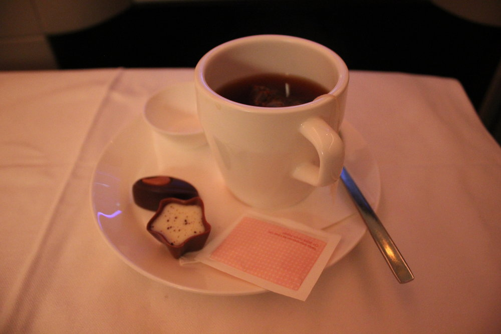 Swiss 777 business class – Swiss chocolate