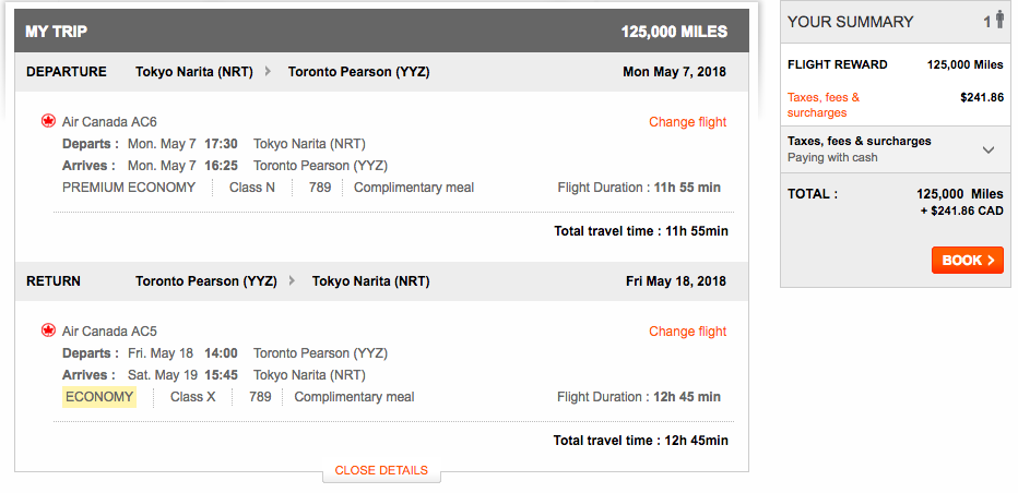 Aeroplan Tokyo to Toronto | Prince of Travel | Miles & Points