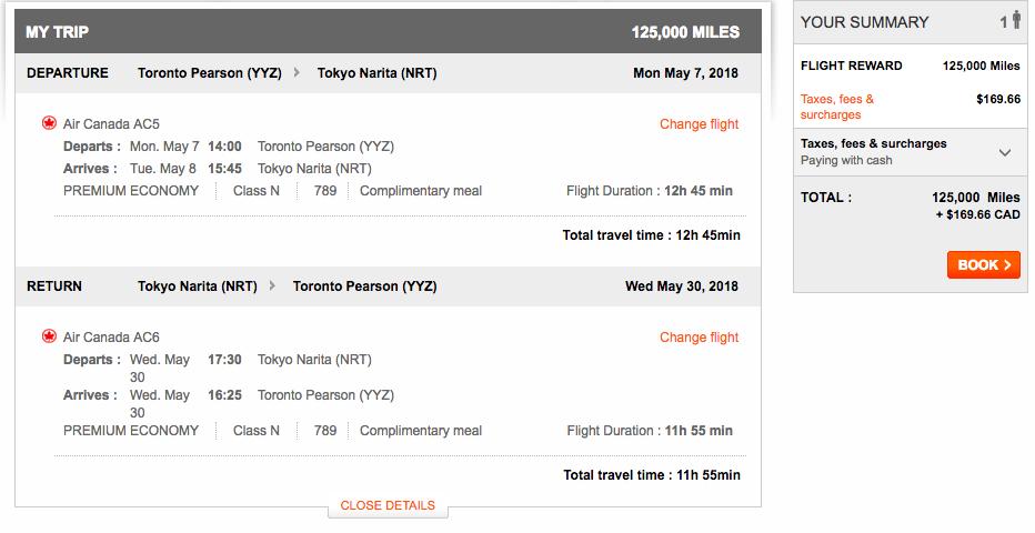 Aeroplan Toronto to Tokyo | Prince of Travel | Miles & Points