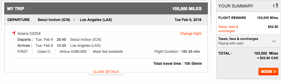 Aeroplan Seoul to Los Angeles | Prince of Travel | Miles & Points