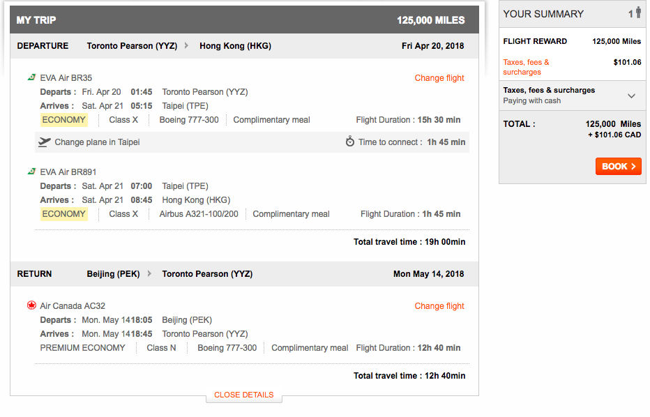 Aeroplan Multi City Air Canada | Prince of Travel | Miles & Points