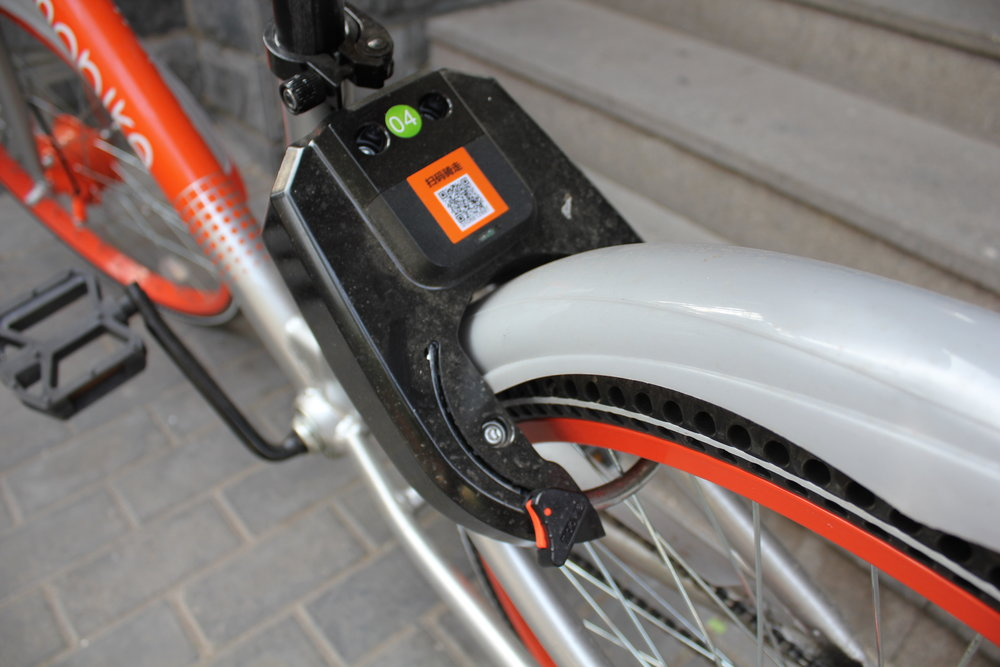 Mobike bicycle – QR code and automatic bicycle lock