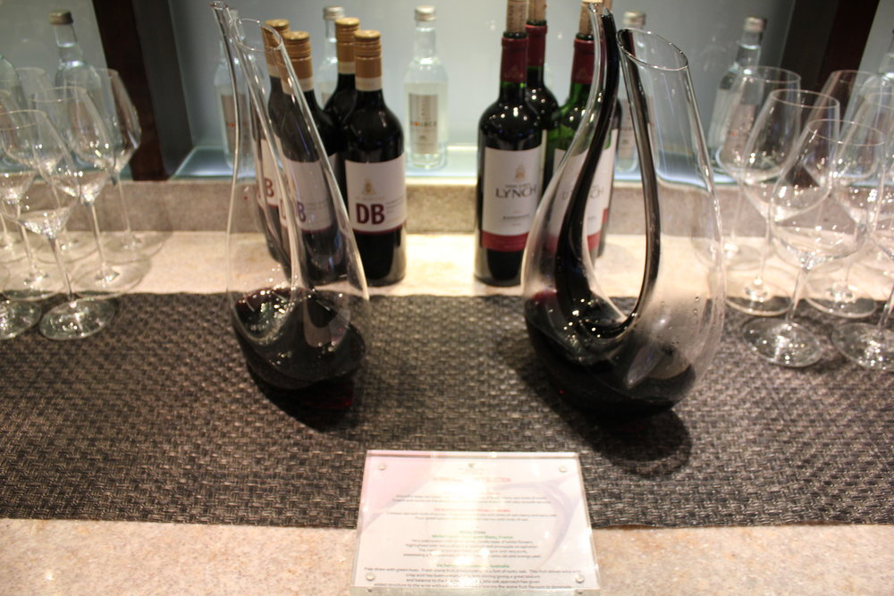 JW Marriott Hong Kong – Executive Lounge wine