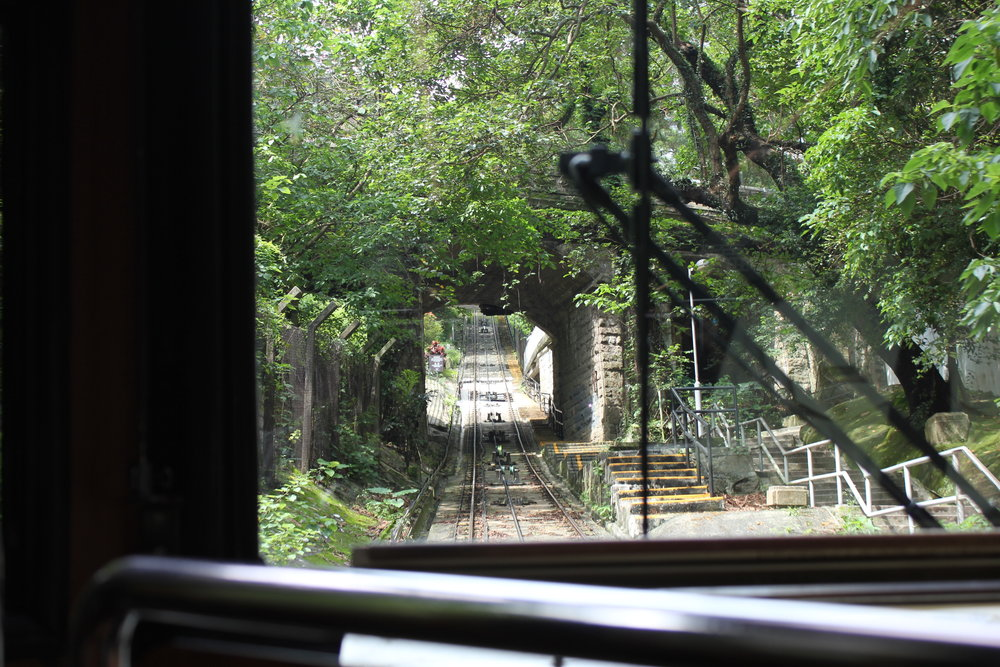 The Peak – Peak Tram view on the way up
