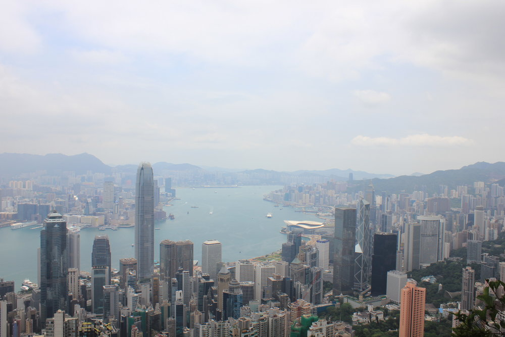 The Peak – View of Hong Kong Island from Lugard Road lookout