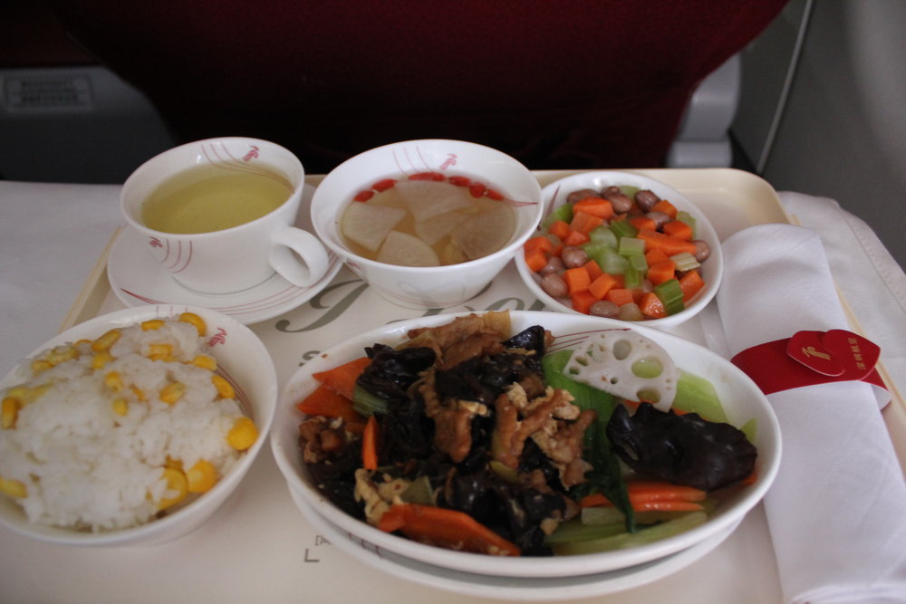 Shenzhen Airlines business class – Lunch