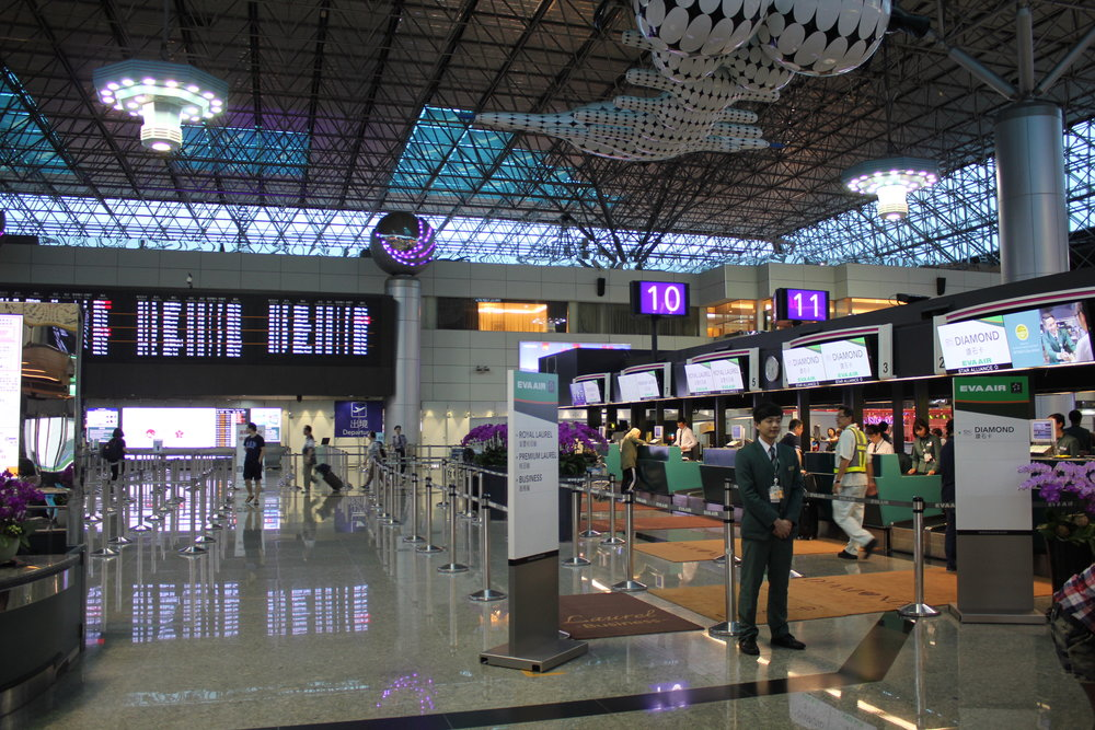 Taipei Taoyuan Airport – EVA Air check-in