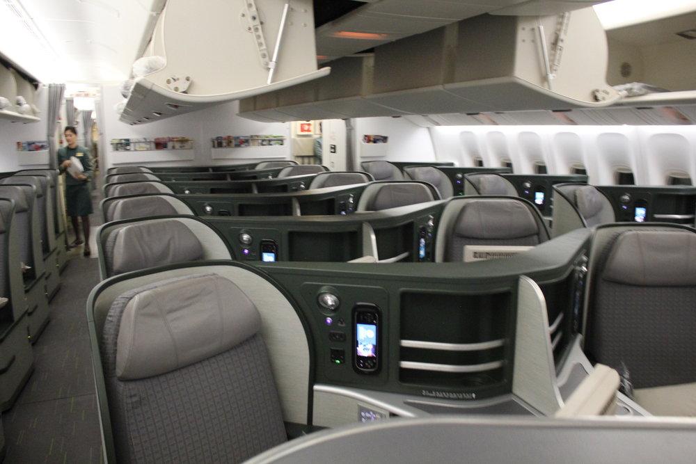 EVA Air business class – Forward cabin