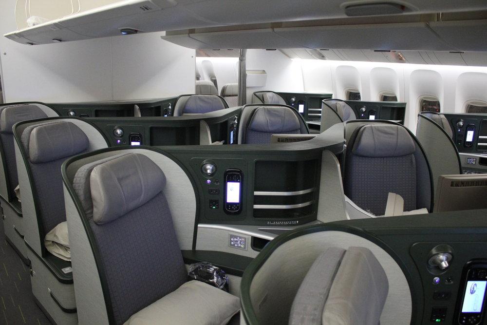 EVA Air business class – Rear cabin