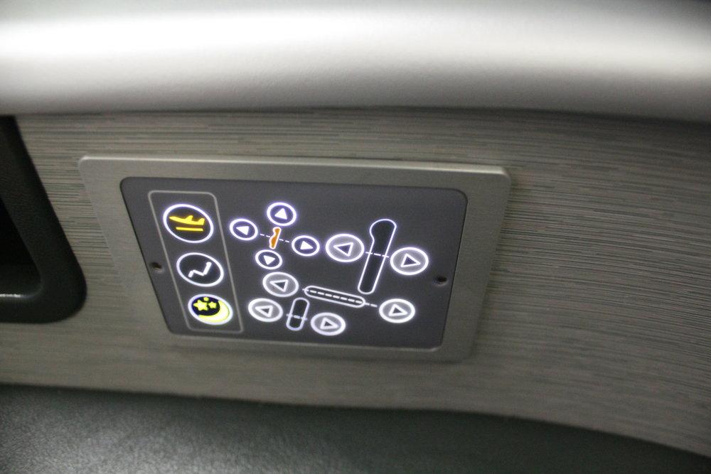 EVA Air business class – Seat controls