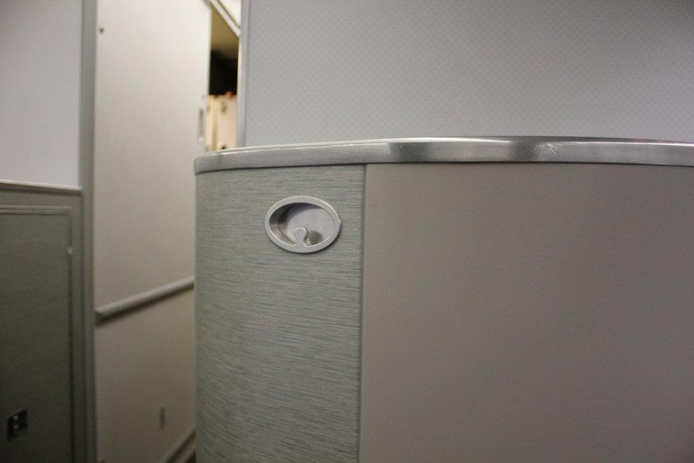 EVA Air business class – Hanger